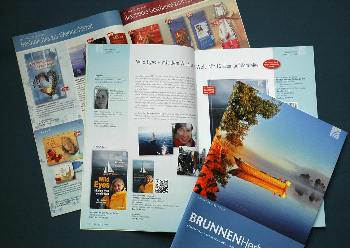Brunnen Magazin Layout und Produktion, Mailings und Vorschauen für Sachbücher, Geschenkbücher und Kinderbücher für Brunnen Verlag Giessen